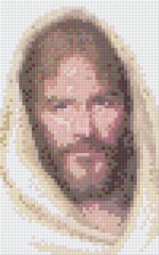 Jesus Two [2] Baseplate PixelHobby Mini-mosaic Art Kit