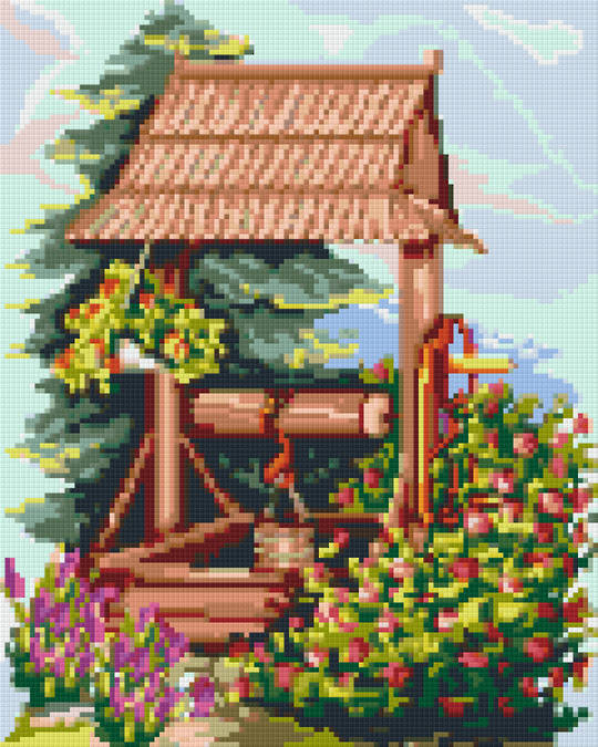Wishing Well Nine [9] Baseplate PixelHobby Mini-mosaic Art Kits