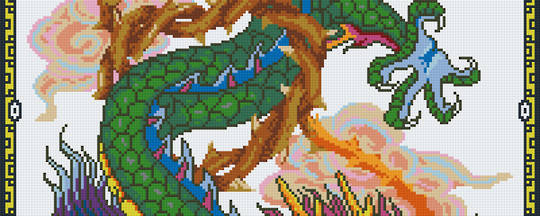 Dragon Lord Part 3 Eight [8] Baseplate PixelHobby Mini-mosaic Art Kits