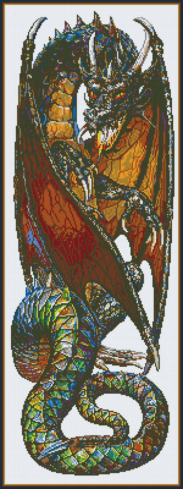Earth Dragon Thirty [30] Baseplate PixelHobby Mini-mosaic Art Kits