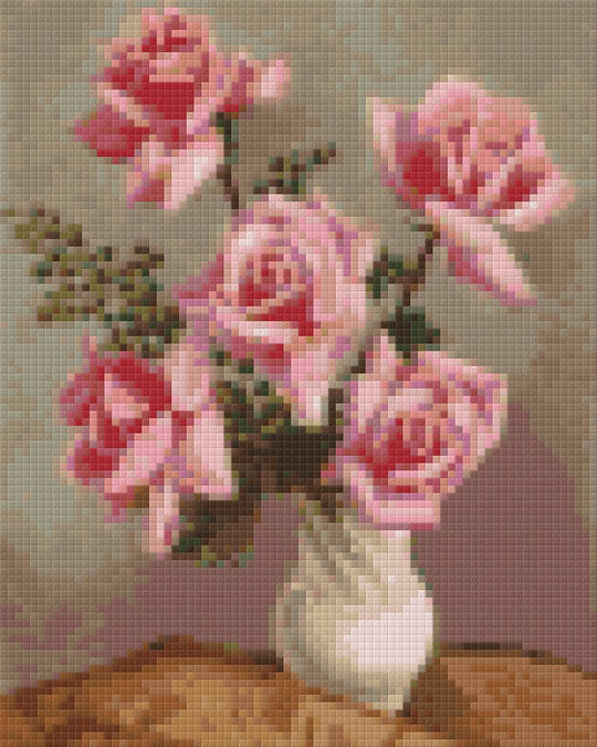 Vase Of Rose Four [4] Baseplate PixelHobby Mini-mosaic Art Kits