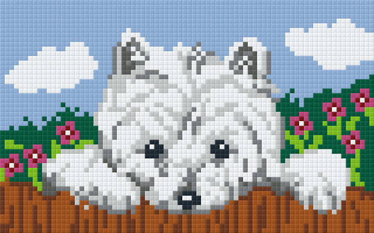 Angie's Westie Two [2] Baseplate PixelHobby Mini-mosaic Art Kit