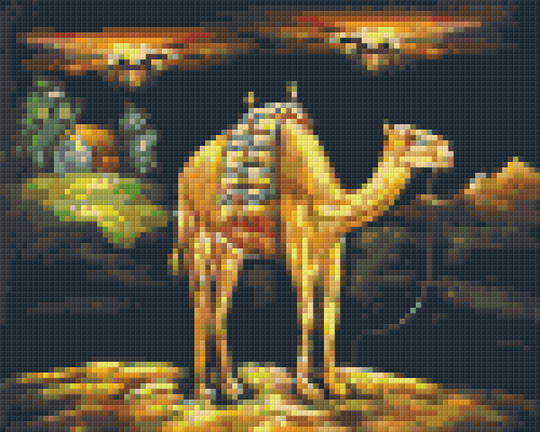 Camel At Night Four [4] Baseplate PixelHobby Mini-mosaic Art Kits