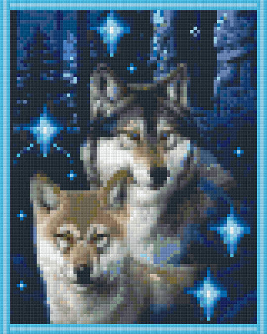 Wolf Duo Four [4] Baseplate PixelHobby Mini-mosaic Art Kits