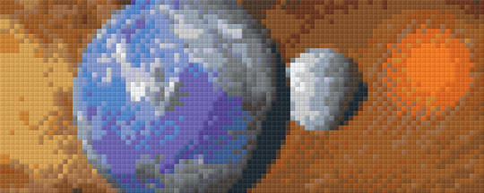 Planet Earth Two [2] Baseplate PixelHobby Mini-mosaic Art Kit