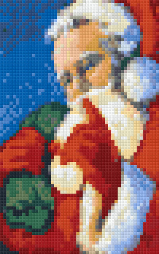 Santa Two [2] Baseplate PixelHobby Mini-mosaic Art Kit