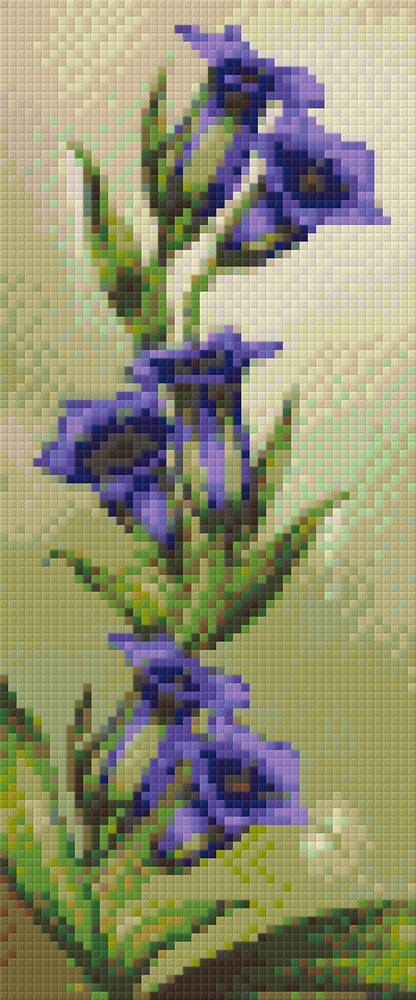 Bell Flowers Three [3] Baseplate PixelHobby Mini-mosaic Art Kit