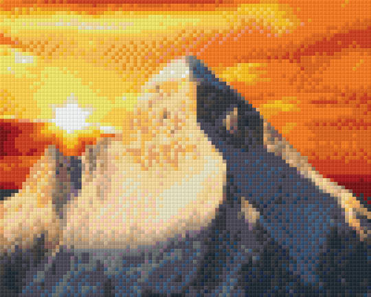 Fire Mountain Four [4] Baseplate PixelHobby Mini-mosaic Art Kits