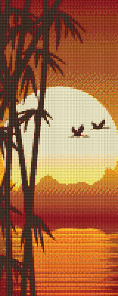 Bamboo Sunset Eight [8] Baseplate PixelHobby Mini-mosaic Art Kits