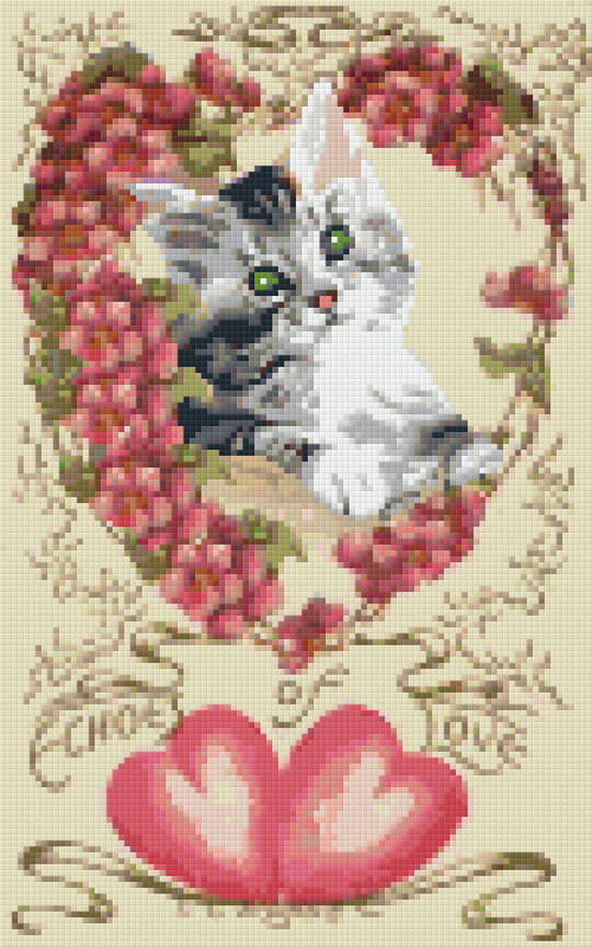 Cat Of Love Eight [8] Baseplate PixelHobby Mini-mosaic Art Kits