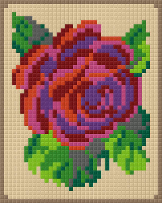 Angies Rose One [1] Baseplate PixelHobby Mini-mosaic Art Kits