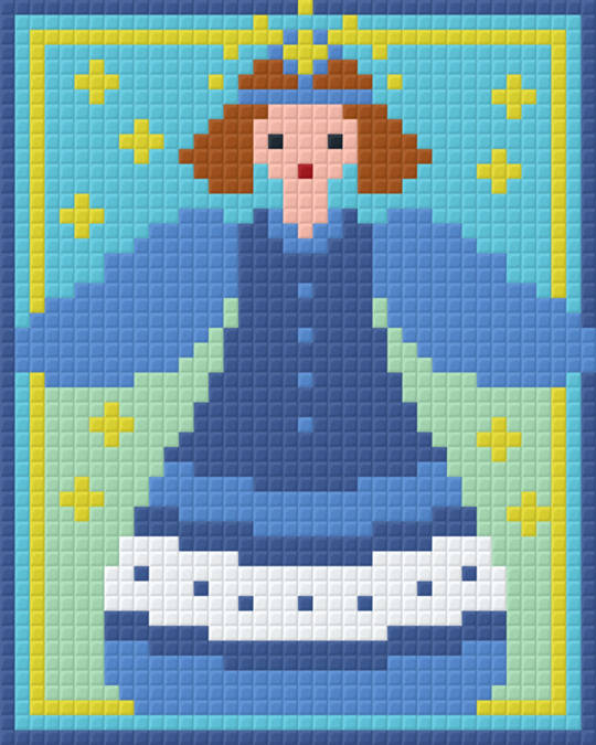 Blue Angle One [1] Baseplate PixelHobby Mini-mosaic Art Kits