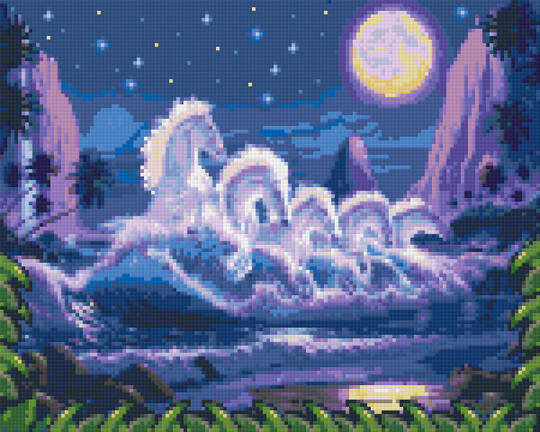 Magic Wave Nine [9] Baseplate PixelHobby Mini-mosaic Art Kits