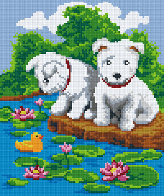 Fun Times Six [6] Baseplate PixelHobby Mini-mosaic Art Kits