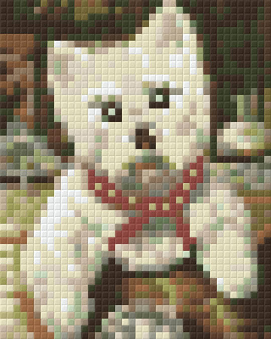 Little Westie One [1] Baseplate PixelHobby Mini-mosaic Art Kits