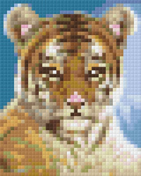 Tiger Baby One [1] Baseplate PixelHobby Mini-mosaic Art Kits