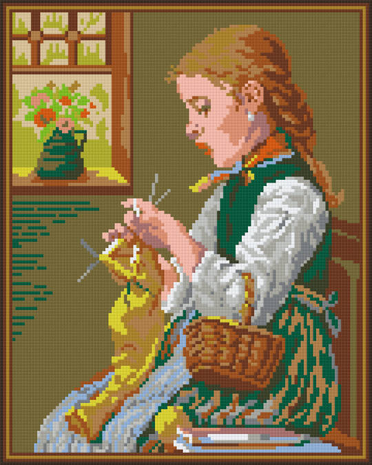 Old Times Nine [9] Baseplate PixelHobby Mini-mosaic Art Kits