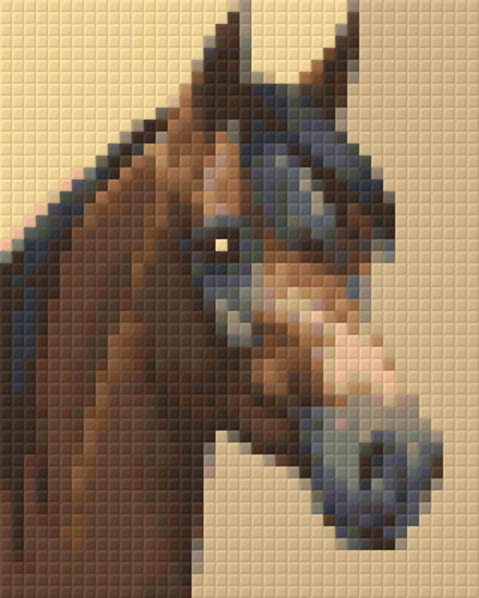 Chocolate Horse One [1] Baseplate PixelHobby Mini-mosaic Art Kits
