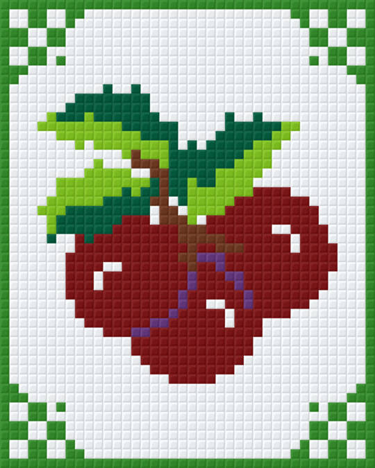 Angies Cherries One [1] Baseplate PixelHobby Mini-mosaic Art Kits
