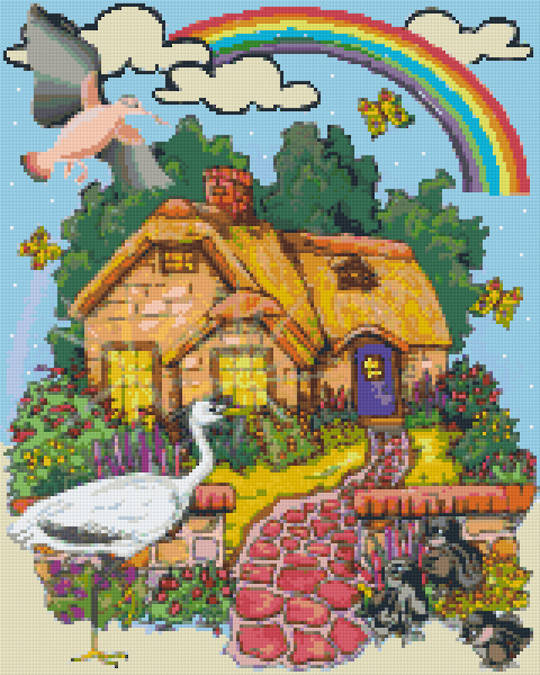 Rainbow Home Sixteen [16] Baseplate PixelHobby Mini-mosaic Art Kits