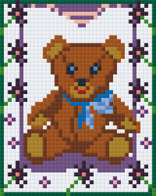 Teddy On Swing One [1] Baseplate PixelHobby Mini-mosaic Art Kits