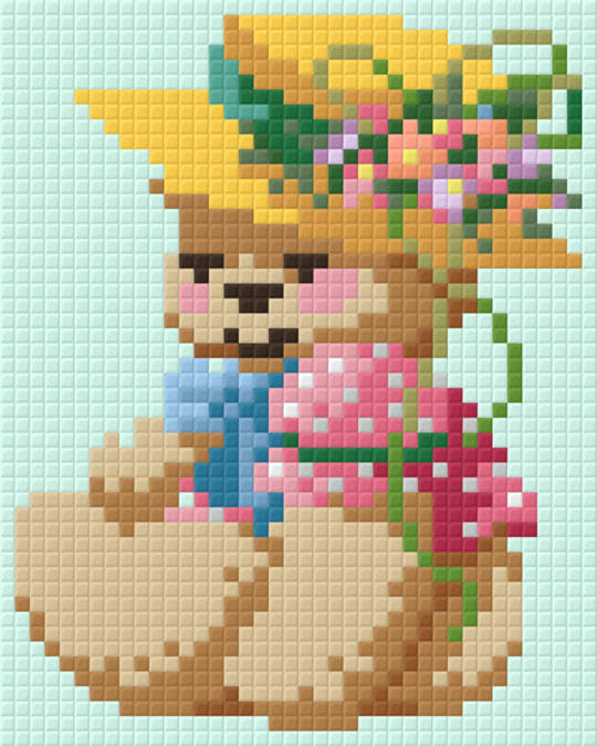 Country Girl Bear One [1] Baseplate PixelHobby Mini-mosaic Art Kits
