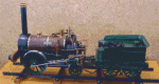 Stephenson's Rocket Model Six [6] Baseplate PixelHobby Mini-mosaic Art Kits