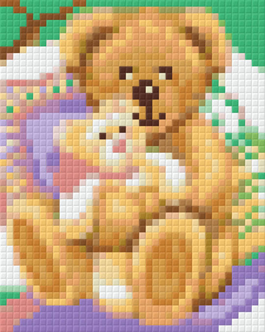 Bearly Love One [1] Baseplate PixelHobby Mini-mosaic Art Kits