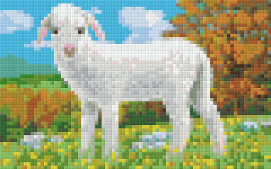 Spring Lamb Two [2] Baseplate PixelHobby Mini-mosaic Art Kit
