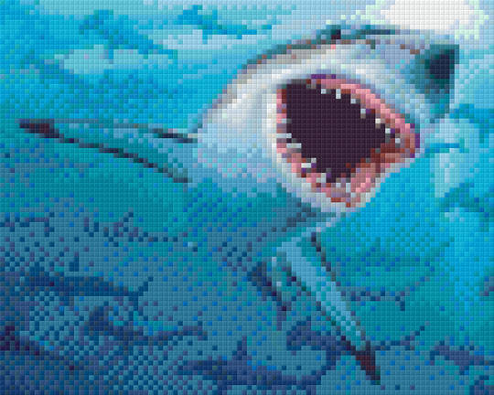 Sharks Four [4] Baseplate PixelHobby Mini-mosaic Art Kits