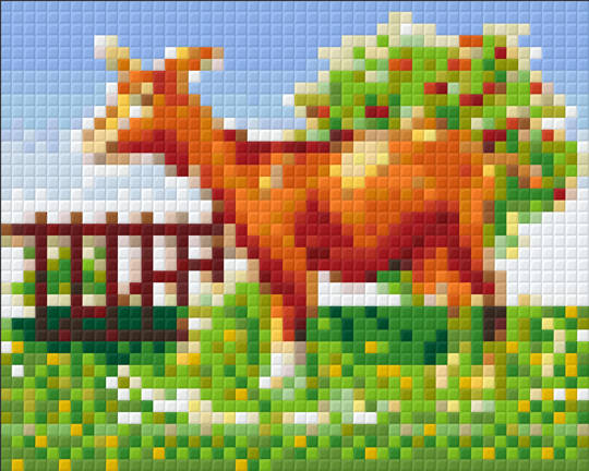 Farm Goat One [1] Baseplate PixelHobby Mini-mosaic Art Kits