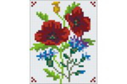 Flower Series V One [1] Baseplate PixelHobby Mini-mosaic Art Kit