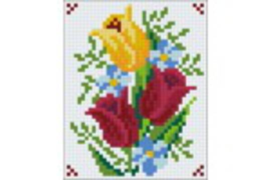 Flower Series VIII One [1] Baseplate PixelHobby Mini-mosaic Art Kits