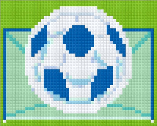 Soccer One [1] Baseplate PixelHobby Mini-mosaic Art Kits