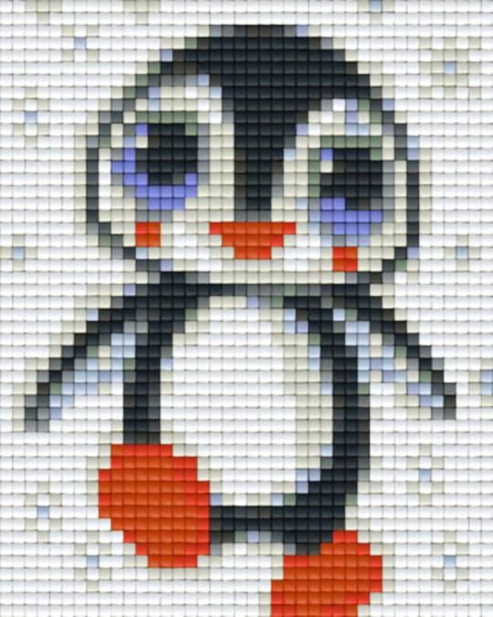 Pinguin One [1] Baseplate PixelHobby Mini-mosaic Art Kits