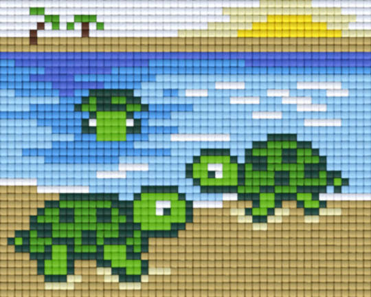 Turtle Design One [1] Baseplate PixelHobby Mini-mosaic Art Kits