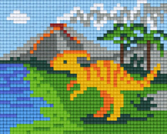 Dinosaur And Volcano One [1] Baseplate PixelHobby Mini-mosaic Art Kits