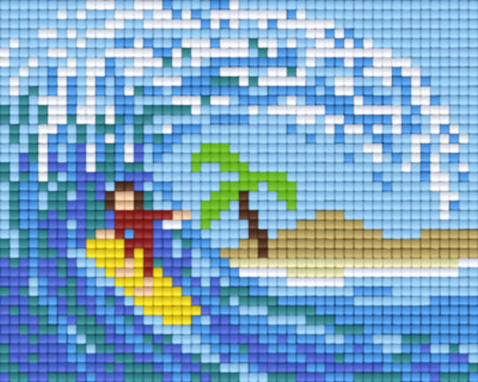 Surfing One [1] Baseplate PixelHobby Mini-mosaic Art Kits