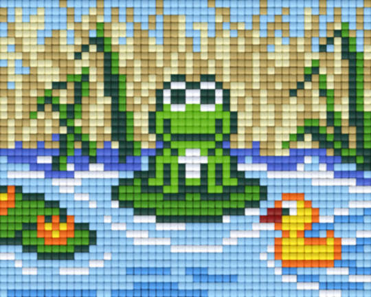 Frog And Duck One [1] Baseplate PixelHobby Mini-mosaic Art Kits