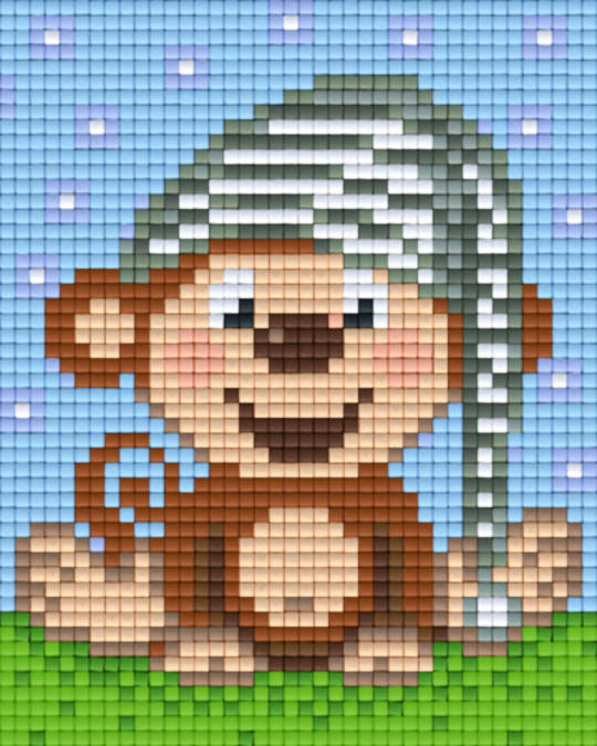 Monkey Night Cap One [1] Baseplate PixelHobby Mini-mosaic Art Kits