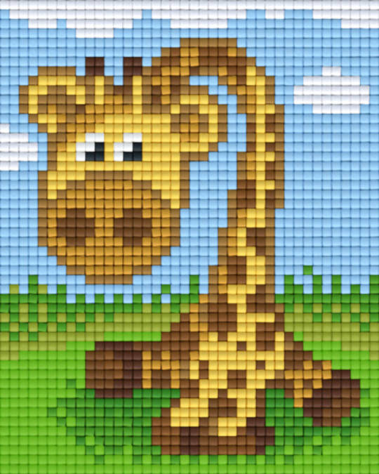 Giraffe One [1] Baseplate PixelHobby Mini-mosaic Art Kits