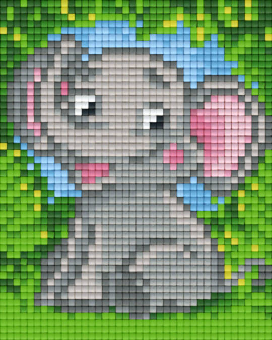 Baby Elephant One [1] Baseplate PixelHobby Mini-mosaic Art Kits