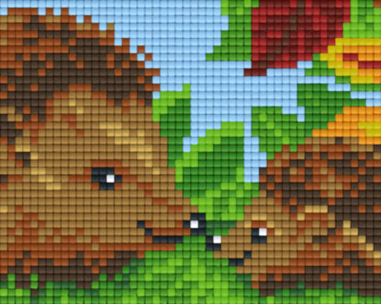 Hedgehogs One [1] Baseplate PixelHobby Mini-mosaic Art Kits