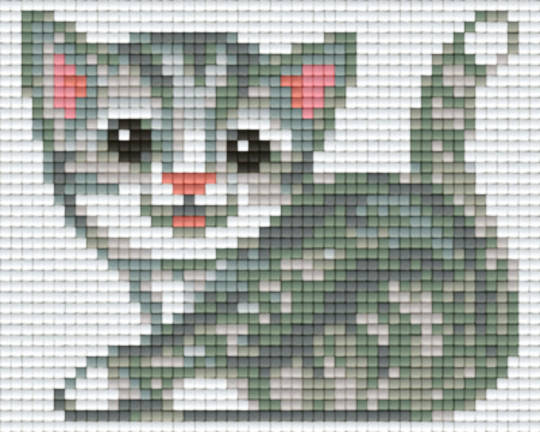 Pussy Cat One [1] Baseplate PixelHobby Mini-mosaic Art Kits