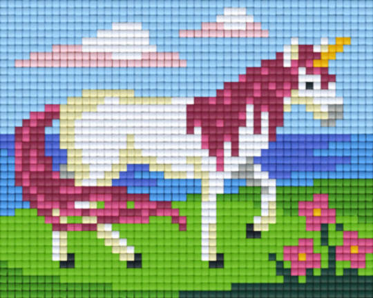 Unicorn One [1] Baseplate PixelHobby Mini-mosaic Art Kits