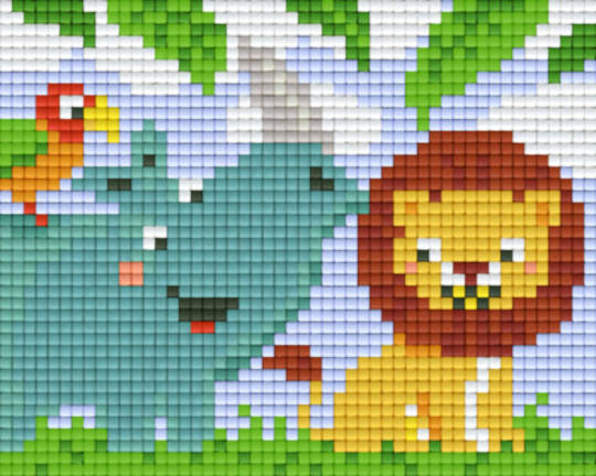 Animal Friends One [1] Baseplate PixelHobby Mini-mosaic Art Kits
