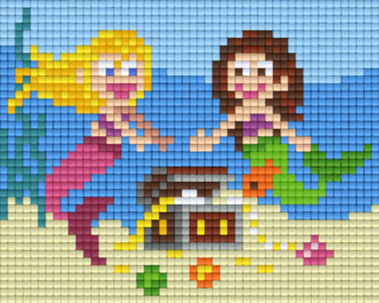 Mermaids One [1] Baseplate PixelHobby Mini-mosaic Art Kits