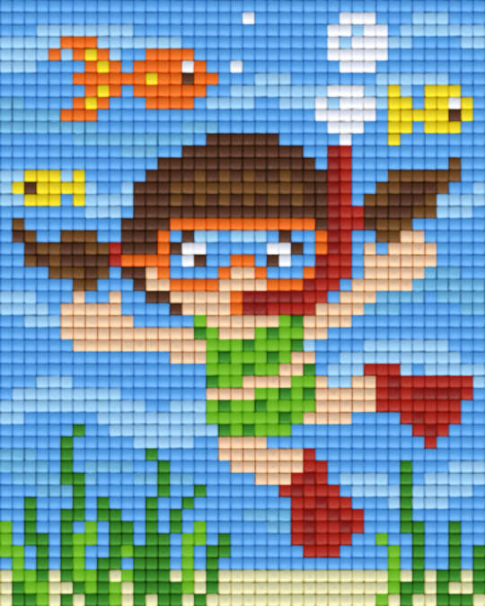 Diver One [1] Baseplate PixelHobby Mini-mosaic Art Kits