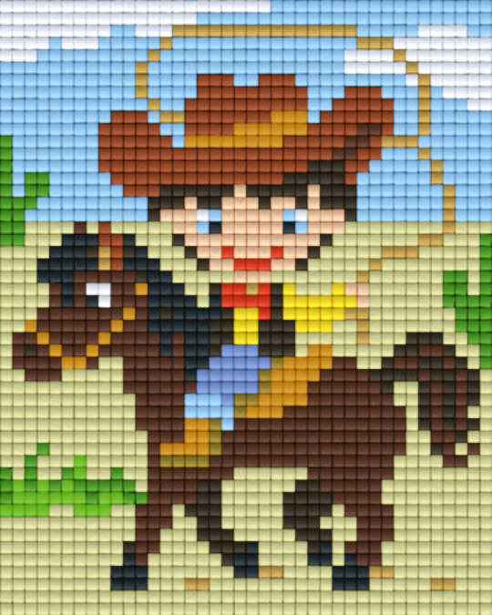 Cowboy One [1] Baseplate PixelHobby Mini-mosaic Art Kits