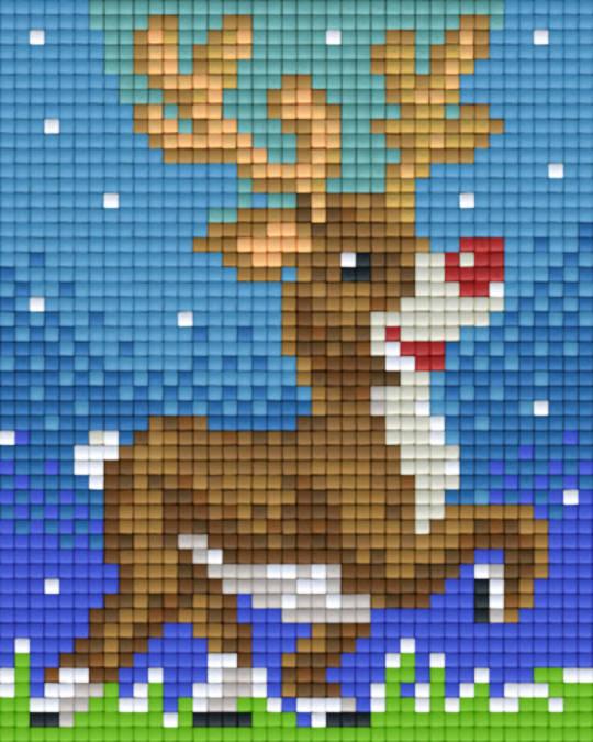 Reindeer One [1] Baseplate PixelHobby Mini-mosaic Art Kits